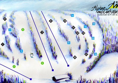 Trail Map Design: Alpine Mountain