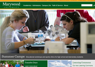 Marywood University Responsive Redesign