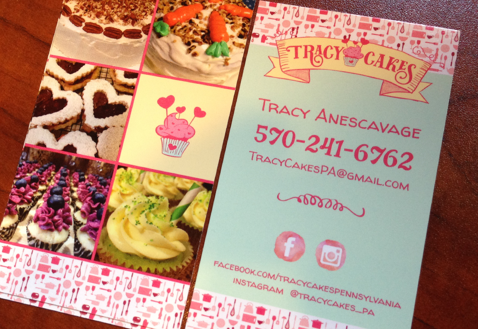 TracyCakes Business Cards